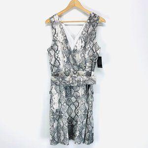 Julia Jordan Snakeskin Print Belted Mini Dress